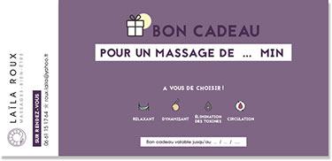 Bon cadeau massage massage à Brignais Saint-Priest Saint-Genis Laval Caluire Vienne Vaugneray Mions Corbas Oullins Chaponost Mornant Lyon Villeurbanne Bron